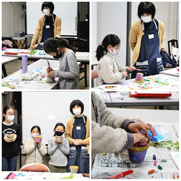 子供アート教室風景2